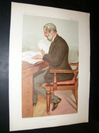 Vanity Fair Print 1895 Dr. Richard Garnett, Literary